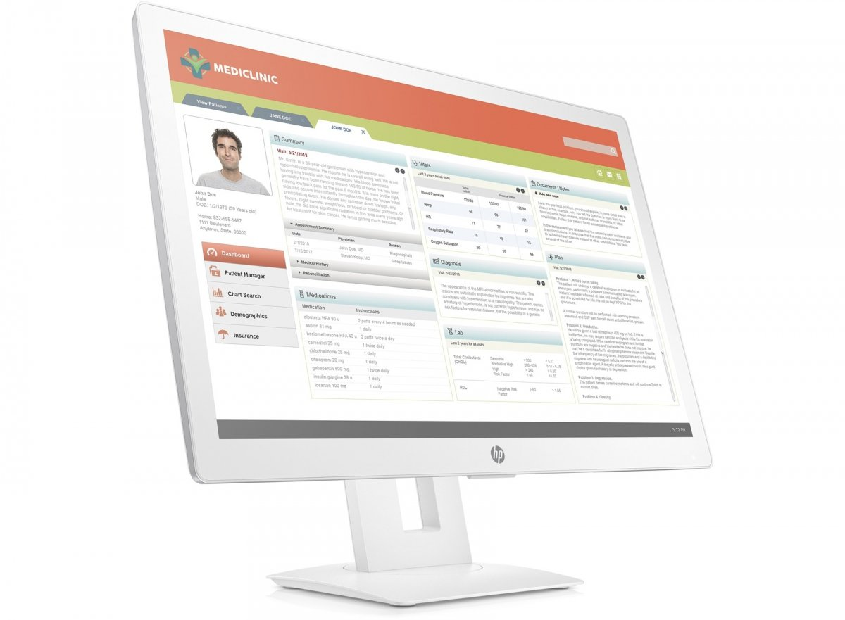 Monitor HP HC241p Healthcare edition 24 FHD
