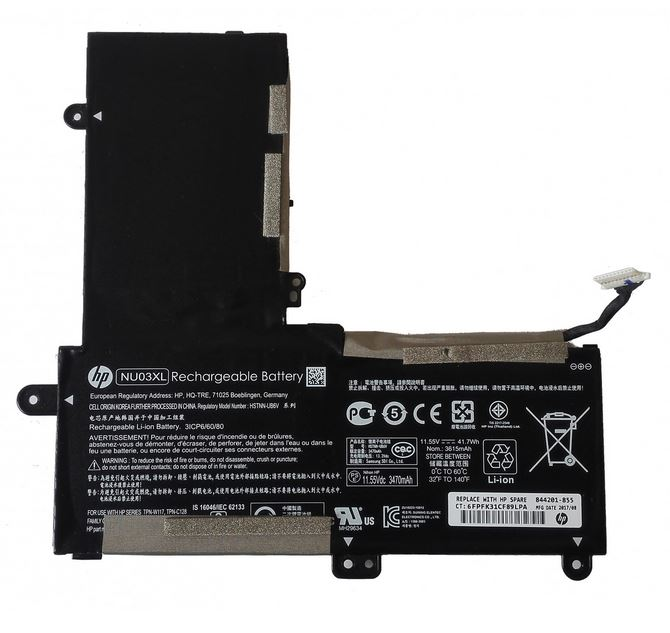 Bateria HP 3-cell 40Wh 3.615A 844201-855